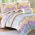 Mi-zone 'Courtney' Purple 4-piece Coverlet Set