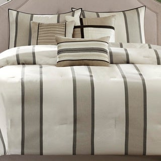 Madison Park Brandon 7-piece Striped Comforter Set