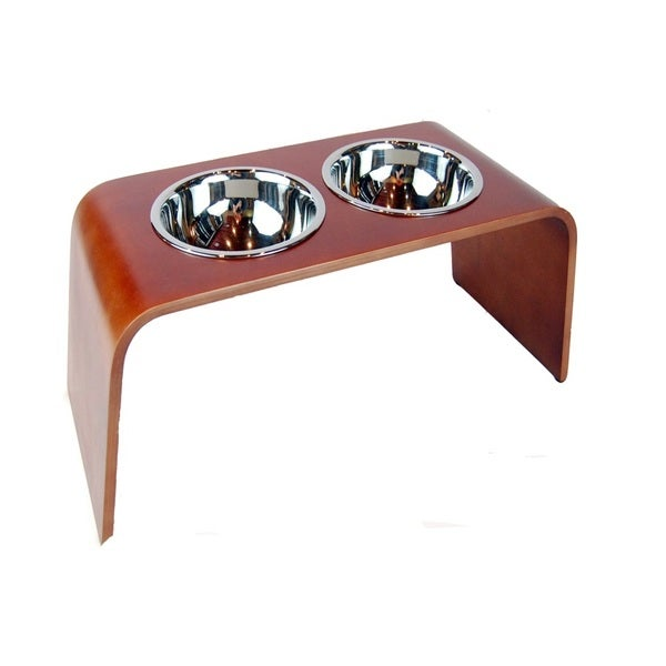 Bergan Elevated Wood Dog Feeder