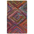LNR Home Layla Multi-coloreded Contemporary Area Rug (7'9 x 9'9)