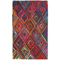 LNR Home Layla Multi-coloreded Contemporary Abstract Rug (5'3 x 7'5)