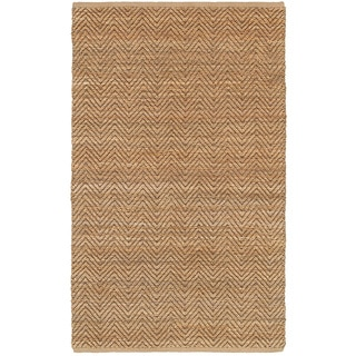Flat Woven Natural Fiber Brown Rectangle (5'3 x 7'5)