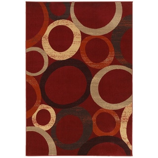 "LNR Home Adana Red Rectangle Plush Indoor Area Rug 5'3""x 7'5"""