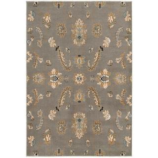 LNR Home Adana Grey Floral Area Rug (5'3 x 7'5)