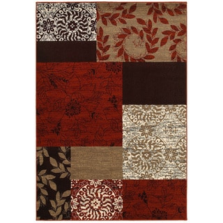 "LNR Home Adana Terracotta Rectangle Plush Indoor Area Rug 5'3""x 7'5"""