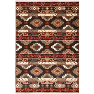 LNR Home Adana Brown Southwestern Area Rug (5'3 x 7'5)