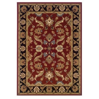 "LNR Home Adana Red/Black Plush Indoor Rectangle Area Rug 9'2"" X 12'6"""