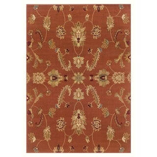 "LNR Home Adana Rust Plush Indoor Rectangle Area Rug 9'2"" X 12'6"""