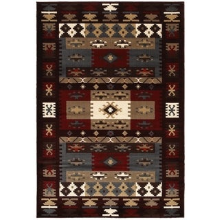 "LNR Home Adana Burgundy Plush Indoor Rectangle Area Rug 7'9"" x 9'9"""