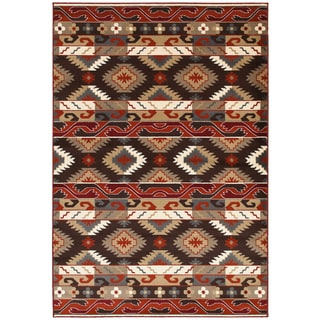 "LNR Home Adana Brown Plush Indoor Rectangle Area Rug 7'9"" x 9'9"""