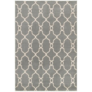 "LNR Home Adana Gray Plush Indoor Rectangle Area Rug 7'9"" x 9'9"""