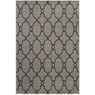 "LNR Home Adana Dark Gray Plush Indoor Rectangle Area Rug 7'9"" x 9'9"""