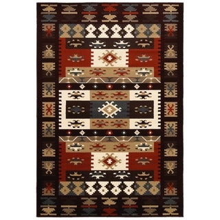 "LNR Home Adana Burgundy Rectangle Plush Indoor Area Rug 1'9""x 2'9"""