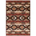 "LNR Home Adana Brown Rectangle Plush Indoor Area Rug 1'9""x 2'9"""