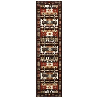 LNR Home Adana Burgundy Runner 1'9 x 6'9""