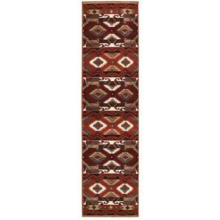 LNR Home Adana Brown Southwestern Runner Rug (1'9 x 6'9)