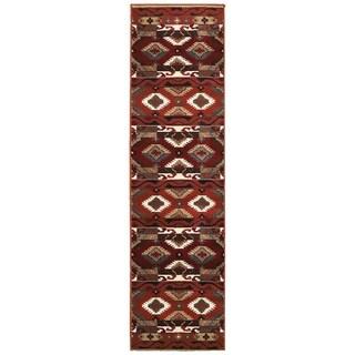 LNR Home Adana Terracotta Southwestern Runner Rug (1'9 x 6'9)