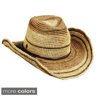 Tommy Bahama Crochet Raffia Western Hat