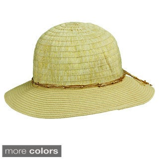 Tommy Bahama Metallic Ribbon Braided Bucket Hat
