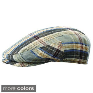 Stetson Men's Hardly Linen Plaid Ivy Cap