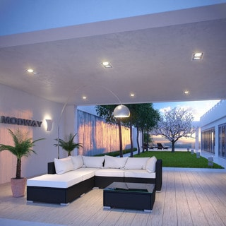 Grandeur 6-Piece Espresso and White Outdoor Sectional Set