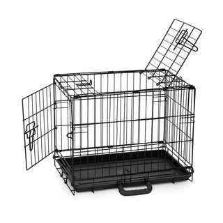 Prevue Pet Products Home On-the-Go Small Double Door Metal Pet Crate