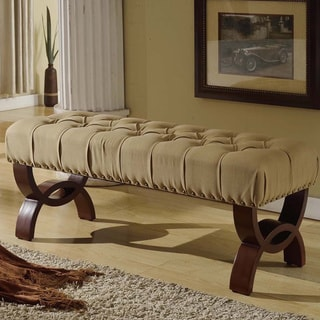 Carolina Tufted Bench With Nailhead Trim
