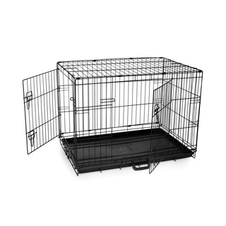 Prevue Pet Products E433DD Home On-the-Go Medium Double Door Dog Crate