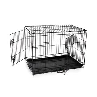 Prevue Pet Products Home On-the-Go Medium Double Door Metal Pet Crate