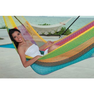 Savannah Large Multi-color Mayan Hammock (Mexico)