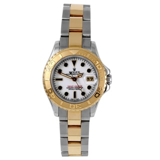 Pre-owned Rolex Women's 'Yacht-Master' 18k Yellow Gold Two-tone Oyster Bracelet Watch