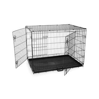Prevue Pet Products Home On-The-Go Large Double Door Metal Pet Crate