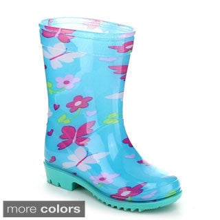Jelly Beans AQUASION Toddler's Girls Jelly Multil Color Floral Rain Boots