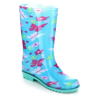Jelly Beans AQUA Kid's Girls Jelly Multil Color Floral Rain Boots