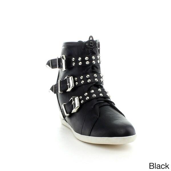 Reneeze BEATA-9 Women's High Top Wedge Sneakers