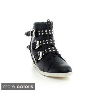 Reneeze BEATA-9 Women's High Top Wedge Sneakers