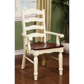 Furniture of America Palister Country Style Arm Chair (Set of 2)