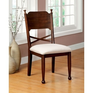 Furniture of America Descani Brown Cherry Side Chair (Set of 2)