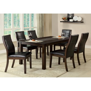 Furniture of America Yani 7-Piece Mosaic Insert Dining Set