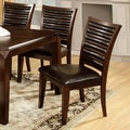 Furniture of America Disanyi Brown Cherry Dining Chairs (Set of 2)