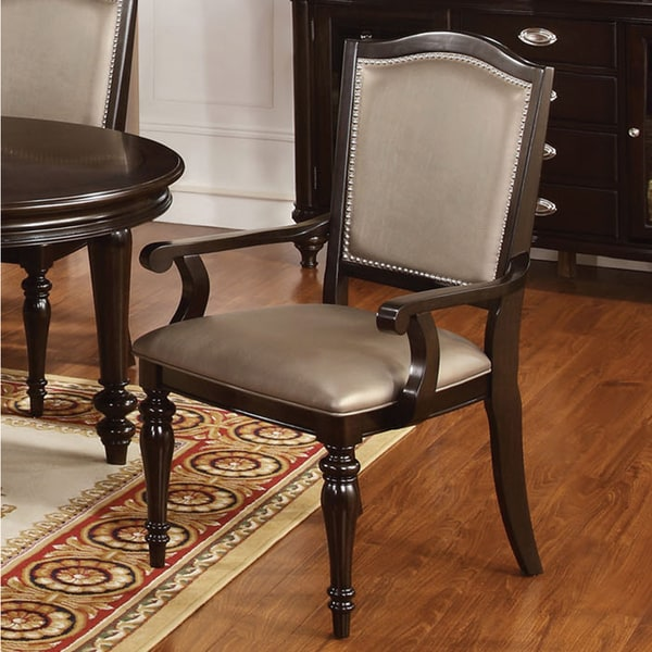 Furniture of america harllington leatherette arm chair for Furniture of america reviews