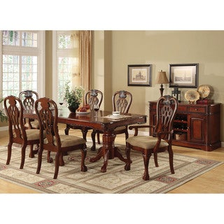 Furniture of America Harper 7-piece Formal Cherry Dining Set