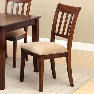 Furniture of America Plainster Brown Cherry Side Chairs (Set of 2)