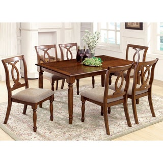 Furniture of America Rookster 7-Piece Dark Oak Dining Set