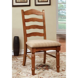 Furniture of America Midvale American Oak Dining Chair, Set of 2