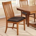 Furniture of America Oakerly Oak Finish Arm Chair, Set of 2