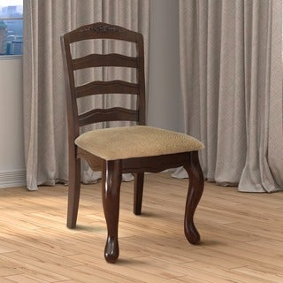 Furniture of America Le Deveaux Dark Walnut Dining Chairs (Set of 2)