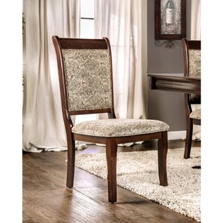 Furniture of America Ravena Antique Cherry Printed Dining Chair (Set of 2)