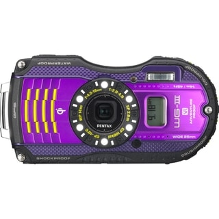 Pentax Optio WG-3 Waterproof Purple Digital Camera 16MP with GPS