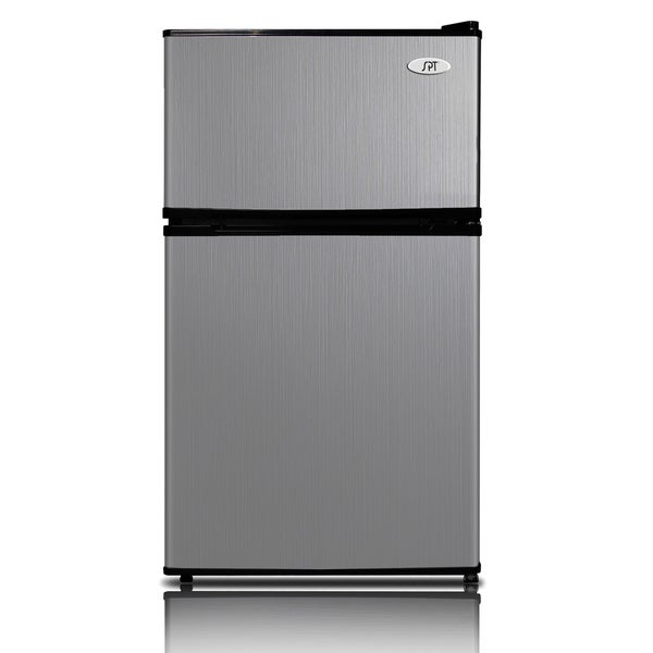 SPT Energy Star 3.1 Cubic Foot Double Door Stainless Steel Refrigerator 13182833